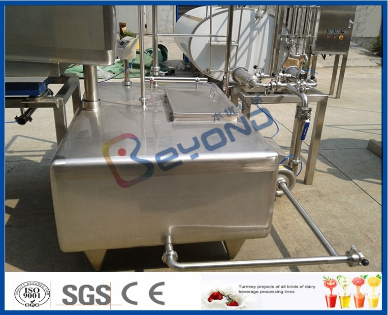 SUS304  SUS316L Stainless Milk Tank , Customized Milk Pasteurization Machine Tank