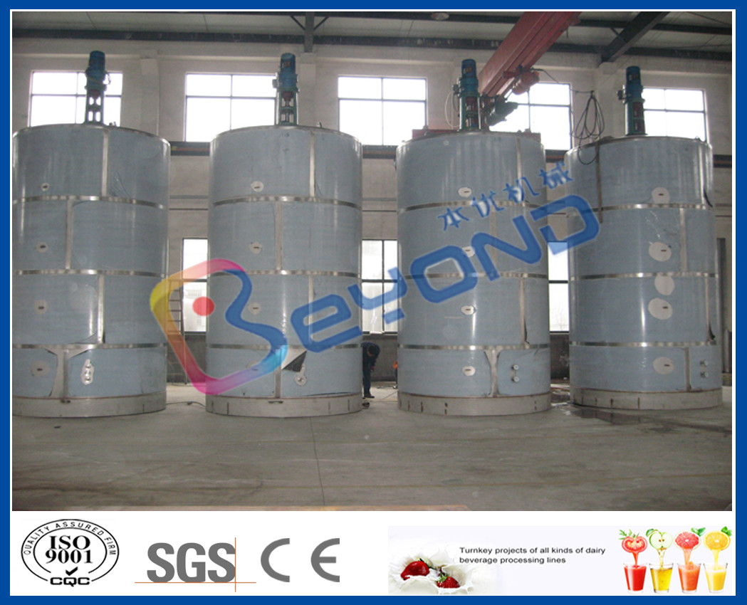 ISO 5T - 30T Large Outdoor Milk Storage Stainless Steel Milk Tank With SUS304 SUS316L