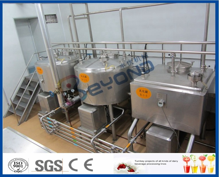 300L-2000L High-speed bottom emulsification tank for sugar/milk power/jelly power/juice powder/ disscolving