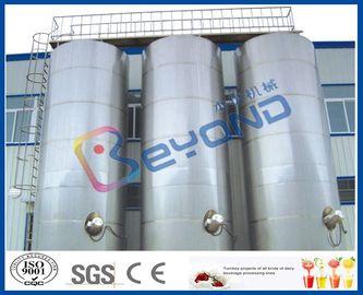 Große Edelstahl-Molkereitechnik der Edelstahl-Sammelbehälter-/SUS304 SUS316 im Freien